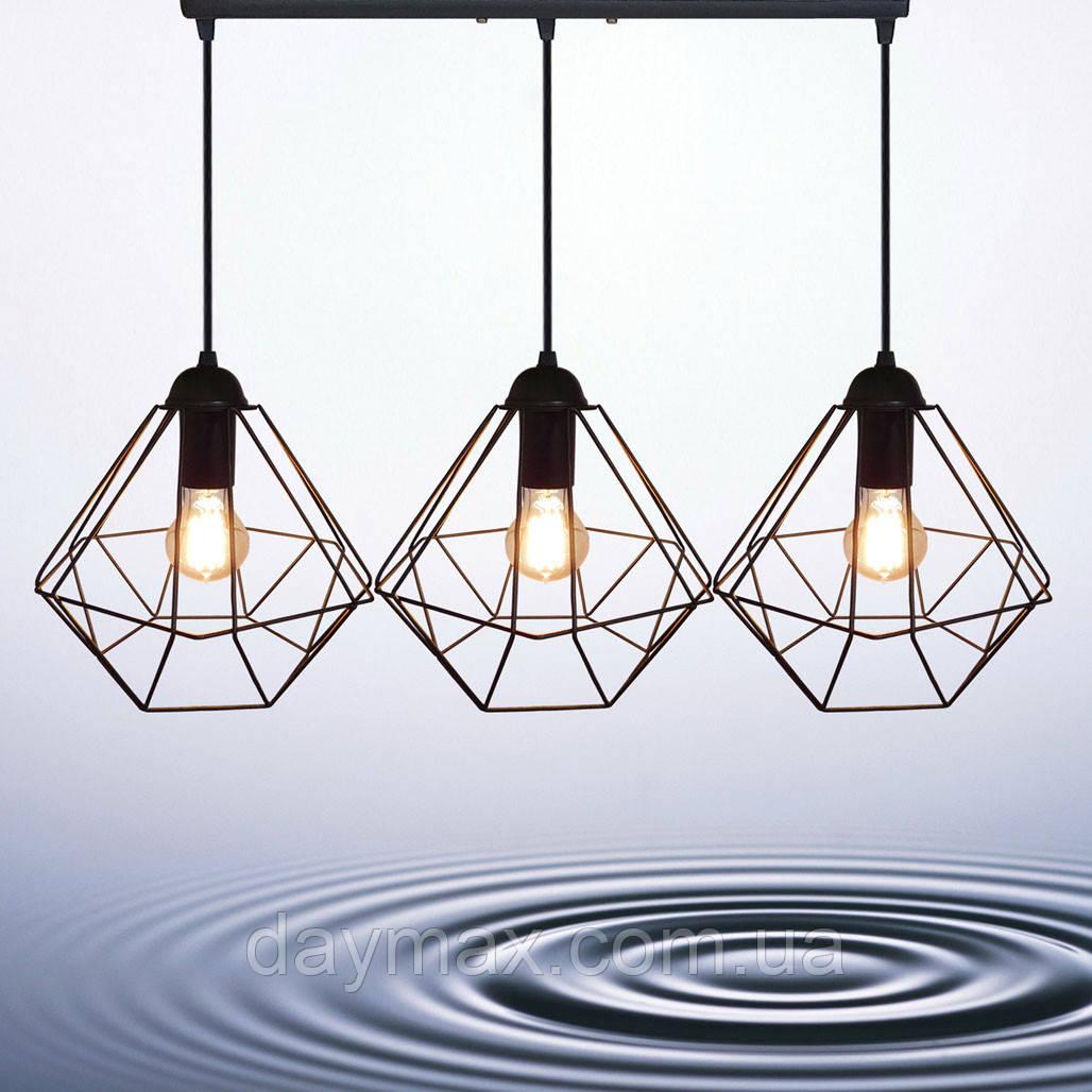 Подвесная люстра на 3-лампы CLASSIC-3 E27 чёрный
