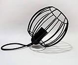 Подвесная люстра на 3-лампы BARREL-3G E27 на круглой основе, чёрный, фото 2
