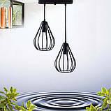 Подвесная люстра на 2-лампы FANTASY-2 E27 чёрный, фото 7