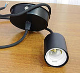 Подвесной светильник CEILING E27 чёрный на 1-лампу, фото 10