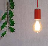 Подвесной светильник CEILING E27 красный на 1-лампу, фото 2