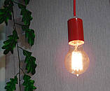 Подвесной светильник CEILING E27 красный на 1-лампу, фото 4