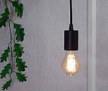 Потолочный подвеснаой светильтник на 3-лампы CEILING-3G E27 на кругу, чёрный, фото 2