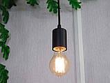 Потолочный подвеснаой светильтник на 3-лампы CEILING-3G E27 на кругу, чёрный, фото 3