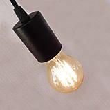 Потолочный подвеснаой светильтник на 3-лампы CEILING-3G E27 на кругу, чёрный, фото 5