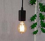 Потолочный подвеснаой светильтник на 3-лампы CEILING-3G E27 на кругу, чёрный, фото 7