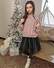 Стильный костюм, комплект тройка для девочек подростков тм Madlen Размеры 140- 164