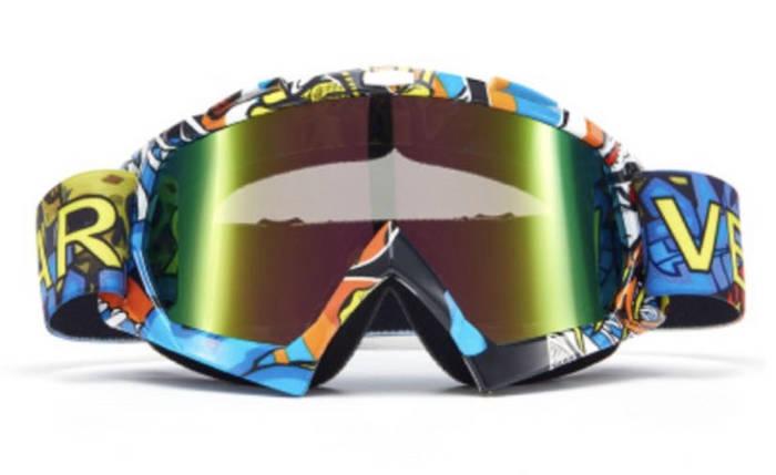 Маска яркая на шлем сноуборда лыж сноубордические Очки, фото 2