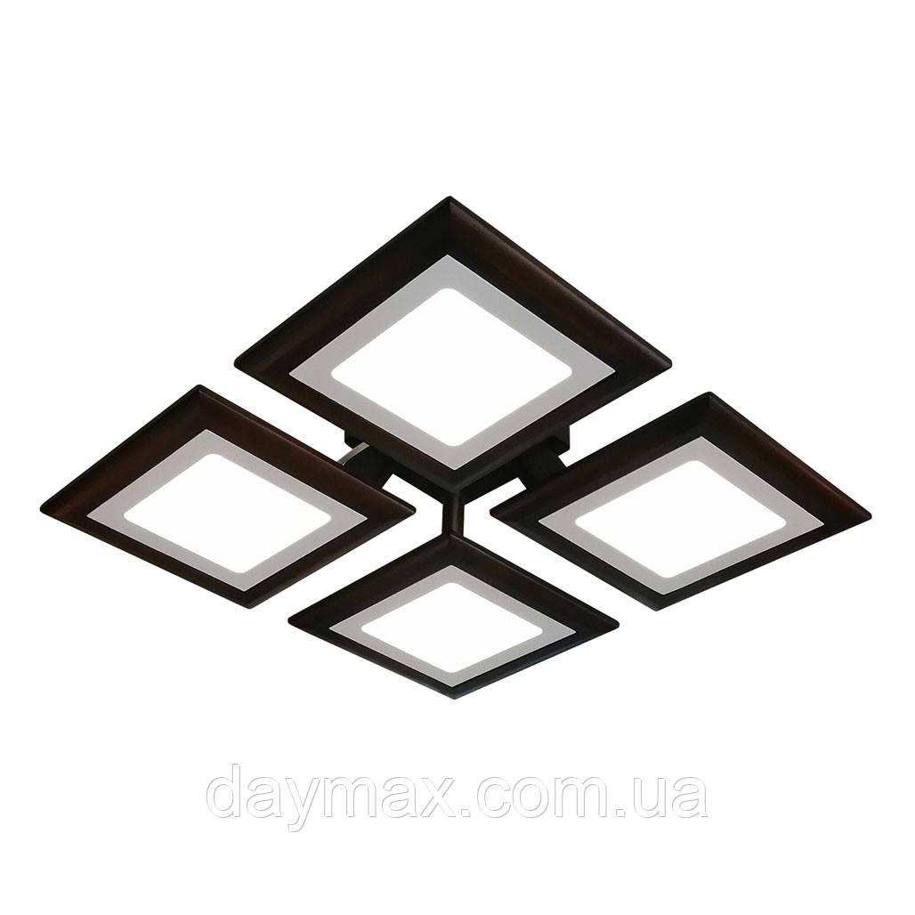 Потолочная люстра QUAD/LED LED 48W темное дерево
