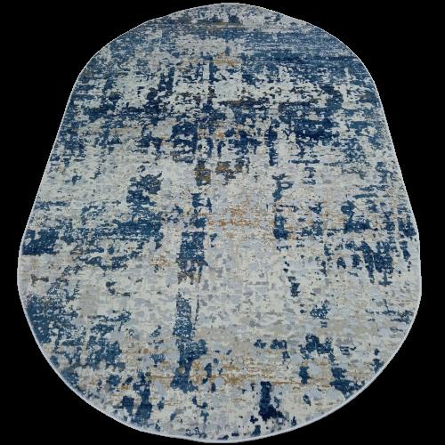 Ковер La Cassa 6355 A овальный размер 200х290 см голубой