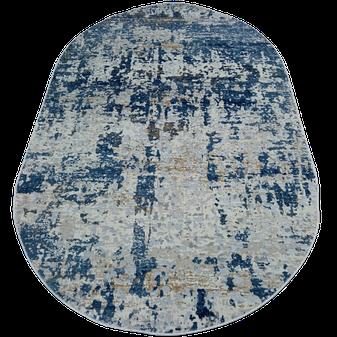 Ковер La Cassa 6355 A овальный размер 200х290 см голубой, фото 2