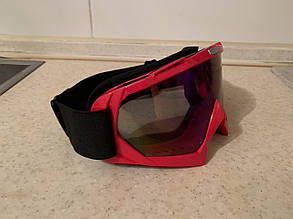 Маска ярко красная на шлем сноуборда лыж сноубордические Очки, фото 2