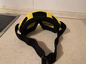 Маска желтая на шлем сноуборда лыж сноубордические Очки, фото 2