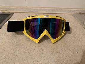 Жовта маска на шолом (кросовий, ендуро, гірськолижний)