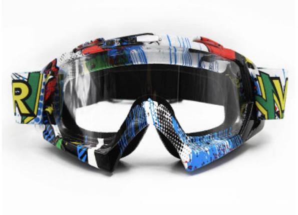 Синяя маска с прозрачной линзой очки для кроссового мотоцикла для горнолыжного шлема сноуборд, фото 2