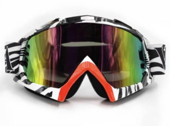 Бело-красная маска  хамелеон очки для кроссового мотоцикла для горнолыжного шлема сноуборд, фото 2