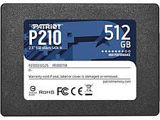 """SSD 512GB Patriot P210 2.5"""" SATAIII TLC (P210S512G25)"""