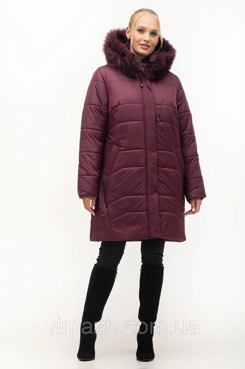 Теплая зимняя куртка для нас красивых размеры 54-70