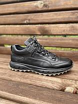 Чоловічі шкіряні кросівки чорні (натуральна вовна), фото 2