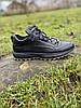 Чоловічі шкіряні кросівки чорні (натуральна вовна), фото 4