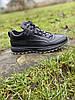 Чоловічі шкіряні кросівки чорні (натуральна вовна), фото 3