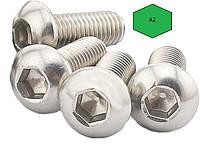 Винт М4 ГОСТ 28963-91, DIN 7380, ISO 7380 с полукруглой головкой из нержавейки, фото 1