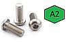 Винт М8 ГОСТ 28963-91, DIN 7380, ISO 7380 с полукруглой головкой из нержавейки