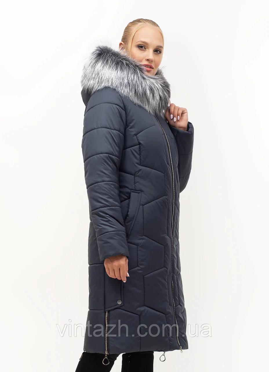 Удлинённая, теплая женская зимняя куртка размеры 48-62