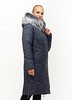 Удлинённая, теплая женская зимняя куртка размеры 48-62, фото 1