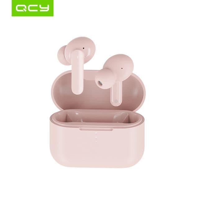 Bluetooth наушники беспроводные QCY T10 Pink арматурные драйверы