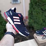 Мужские кроссовки Adidas ZX 750 (синие с красным) 10323, фото 8