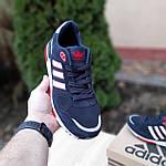 Мужские кроссовки Adidas ZX 750 (синие с красным) 10323, фото 2