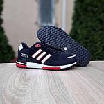 Мужские кроссовки Adidas ZX 750 (синие с красным) 10323, фото 3