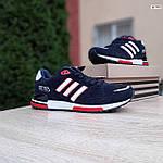 Мужские кроссовки Adidas ZX 750 (синие с красным) 10323, фото 7