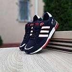 Мужские кроссовки Adidas ZX 750 (синие с красным) 10323, фото 9