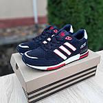 Мужские кроссовки Adidas ZX 750 (синие с красным) 10323, фото 5