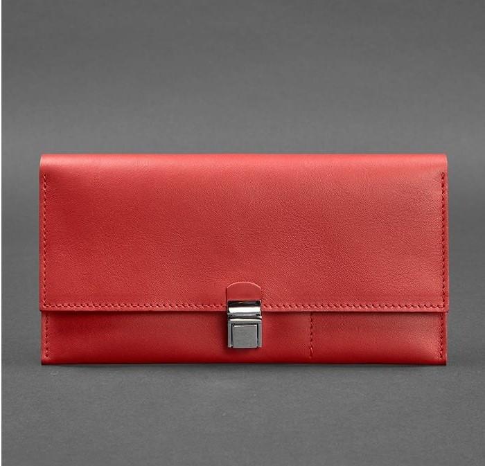Кошелек-клатч кожаный для документов дорожный кейс красный BN-TK-2-red