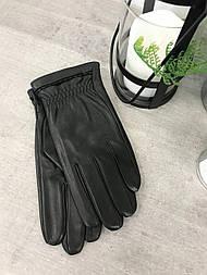 Мужские кожаные перчатки сенсорные
