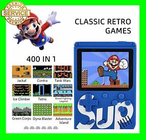 Игровая приставка SUP Game Box Plus 400 игр (синяя)