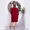 Платье ассиметрия вечернее креп дайвинг+диско 48-50,52-54,56-58, фото 2