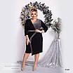 Платье ассиметрия вечернее креп дайвинг+диско 48-50,52-54,56-58, фото 3