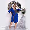 Платье ассиметрия вечернее креп дайвинг+диско 48-50,52-54,56-58, фото 7