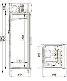 Шкаф холодильный DM107-S Polair, 700 л, (+1..+10), фото 2