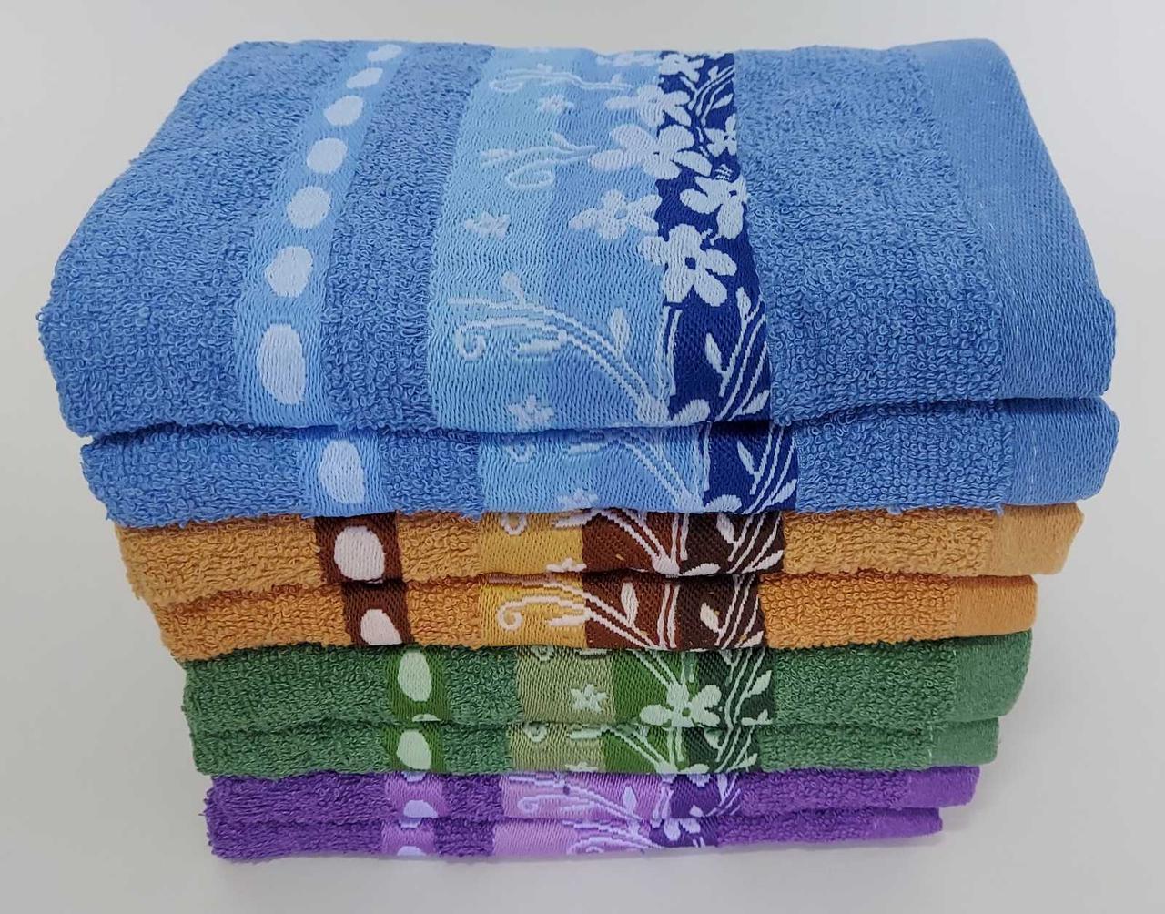 Махровые лицевые полотенца «Ромашковое поле»  с цветочным узором (8 шт)