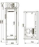 Шкаф холодильный DM110-S Polair, 1000 л, (+1..+10), фото 2