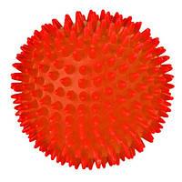 Trixie (Трикси) Игрушка для собак мяч шипованный с пищалкой, винил 10см