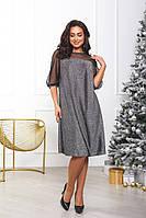 Платье с люрексом батал, фото 1