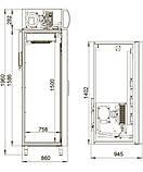 Шкаф холодильный DM114-S Polair, 1400 л, (+1..+10), фото 2