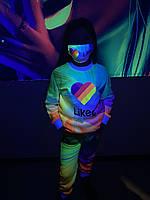 Детский светящийся  костюм унисекс Likee +маска в подарок, фото 1