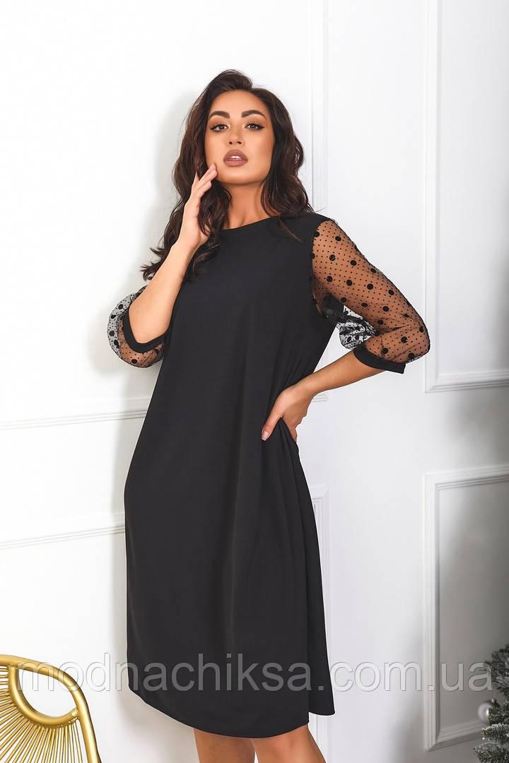 Платье нарядное с сеткой